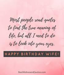 Birthday Quotes For Wife Amazing Happy Birthday Wife Say Happy Birthday With A Lovely Quote