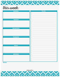 Amazon Com Weekly Planner Pad By Julianne Co Premium Weekday