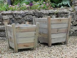 garden trading kingham wooden patio planter ...
