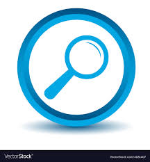 magnifying glass icon blue. Contemporary Magnifying Blue Magnifying Glass Icon Vector Image In Magnifying Glass Icon