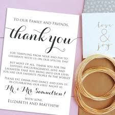 Wedding Thank You Notes Templates Wedding Thank You Cards Welcome Letter Printable Wedding
