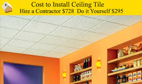 cost to install ceiling tiles