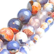 <b>Orange</b> Blue <b>Fire Agate</b> For Jewelry Making Necklace <b>Natural</b> ...