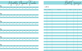 bill organizer template free printable home finance and bill organizer in 5 fab colors