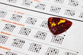 Chord Chart Paper Paper Of Chord Chart For Guitarist And Musician