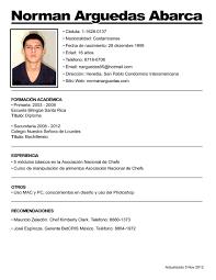 Ejemplo Curriculum Vitae Espana Zooz1 Plantillas