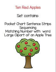 Apple Tree Pocket Chart Ten Red Apples Pocket Chart Activity