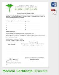 Medical Certificate Template New Sample Medical Certificate Download Documents Pdf Word Fake Doctors