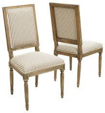 martin weathered stripe dining chairs dark coffee set of 2
