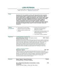 Objectives For Resumes For Teachers Teacher Resume Objectives
