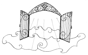 Small Picture Heaven Pearly Gates Drawing Sketch Coloring Page Coloring Home