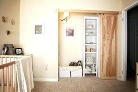 narrow barn door m small bedroom walk in closet using unstained pine wood pallet sliding master sliding door