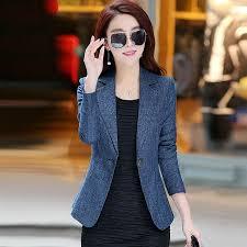 Autumn <b>Korean Version Women Blazer</b> 2019 New Style Winter One ...