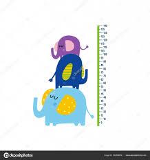 Cute Growth Chart Cute Growth Chart For Kids Stock Vector Webmuza 162958876