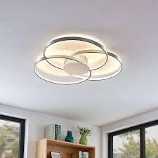 Durchmesser 50 cm, höhe 30 cm. Buromobel Led Deckenleuchte Joline Rostbraun Deckenlampe Rund Wohnzimmerlampe Led Onebitjr Com Br