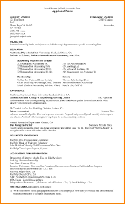 Interesting Resume Objective Examples Accounting With Resume