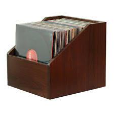 Bine LP STORAGE Java Cherry  Storage For Your Vinyl Record Collection Lp Record Storage75