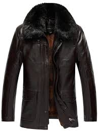 trendy plus size faux fur collar flocking pu leather jacket