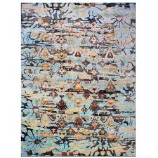 sari silk rugs light blue rug 3 4 a