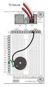 build a beeper circuit learn parallax com build the piezo speaker circuit on your robot s breadboard