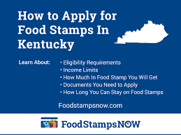 How To Apply For Food Stamps In Kentucky Online Food
