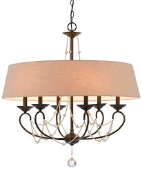 creative of drum chandelier with crystals modern burlap drum shade chandelier 6 light lamp shade pro