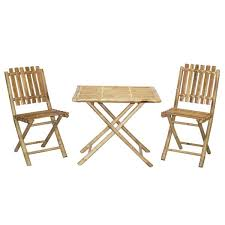 handmade bistro bamboo table and 2 chairs patio set vietnam