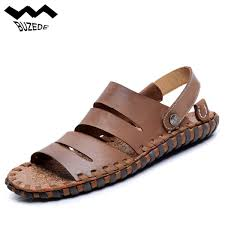 2018 fashion genuine men s sandals leather summer soft male sandals shoes for men breathable light beach casual a quality sandal malaysia