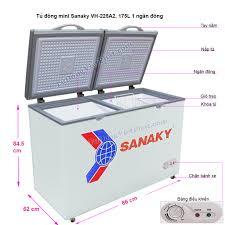 Tủ đông mini 175L Sanaky VH-225A2, 1 ngăn đông 2 cánh Giá rẻ 11/2020