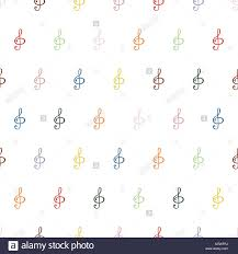 Treble Clef Music Treble Clef Seamless Background Pattern In The Treble Clef Music