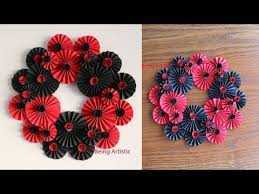 2 paper flower wall hanging 6 diy