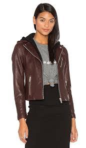 detachable hood moto jacket doma