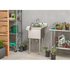 stainless steel utility sink. Fine Utility TRINITY Stainless Steel Utility Sink Inside E