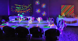 Image of: neon party decoration ideas
