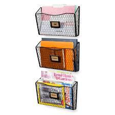 wall mount rack and file folder holder office supplies holder and desk drawer organizer black set of 3