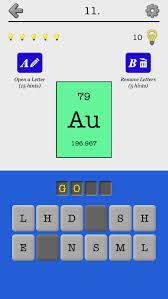 Chemical Elements and Periodic Table: Symbols Quiz | iPhone & iPad ...