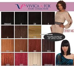 Vivica Fox Hair Color Chart Vivica A Fox Hair Collection Color Charts