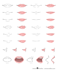 When shading or coloring the inside of the mouth should generally be the darkest with the tongue slightly lighter and the teeth the lightest (usually just. How To Draw Anime Lips Tutorial Animeoutline