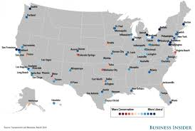 city political spectrum map  business insider