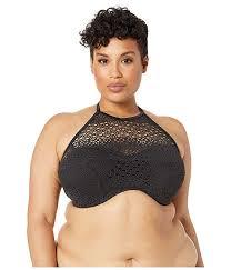 Elomi Crochet Underwire Bandeau High Neck Bikini Top 6pm