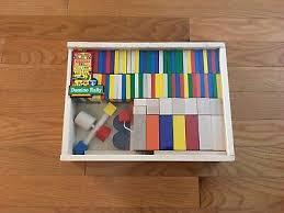 WOOD DOMINO MELISSA & Doug's Classic Wooden Toys Domino Rally Set ...