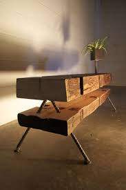 furniture made of wood. reclaimed wood tables made of beams unite two design furniture