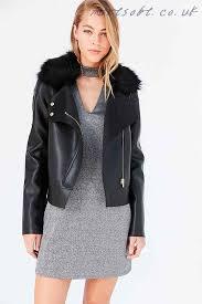 womens kimchi blue glam faux fur collar moto jacket black whole trade new authentic 7b561 896da
