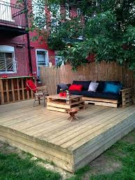 fantastic photo 3 of 6 pallet patio decks with furniture building a wood patio 3 cost