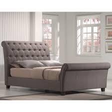 upholstered sleigh beds. Innsbruck Upholstered Sleigh Bed In Silver Linen Upholstered Sleigh Beds U