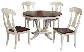 napoleon antique oak 5 piece dining set 48 round pedestal dining table white farmhouse dining sets by baxton studio