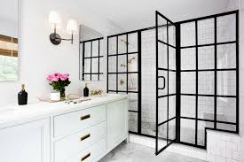 black grid shower door awesome frame showers sophisticated with modern industrial flair home ideas 2
