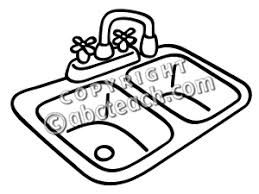 kitchen sink clipart black and white. clip art black and white kitchen sink cliparts clipart u