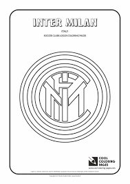 Cool Coloring Pages Soccer Clubs Logos Inter Milan Logo
