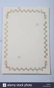Certificado En Blanco Foto Imagen De Stock 92722057 Alamy